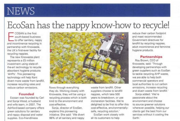 Ecosan has the nappy know-how to recycle!